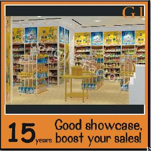 customized store interior grocery shop display modern floor stand