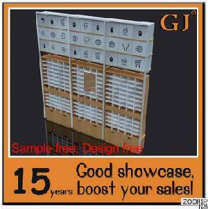 New Design Wall Mounted Living Goods Display Wood Shelf