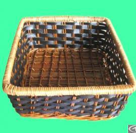 Square Bamboo Fruit Basket