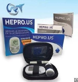 Hepro Us Glucose Meter Mm1000 Kit