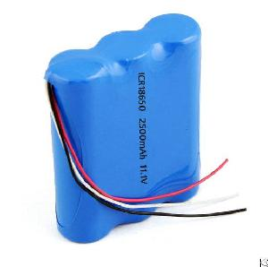 lithium ion 18650 battery pack 3s1p 11 1v 2500mah protection pcb 10k ntc