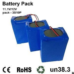 Perma Battery Pack Li-ion 18650 3s10p 11.1v 29ah For 12v Dc Power Sources
