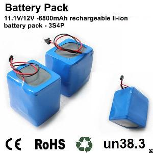 perma battery pack li ion 18650 3s4p 11 1v pcb connector 12v dc power systems