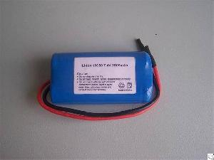 Perma Battery Pack Li-ion 18650 7.4v 2000mah With Protection Pcb And Leading Wires