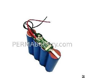 rechargeable li fepo4 18650 4s1p 12v 1500mah battery pack pcb wires
