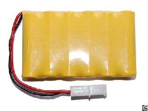 Rechargeable Ni-cd Aa 7.2v 600mah Battery Pack With Connector