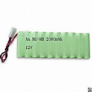 rechargeable nimh 12v 10xaa 2000mah emergency light
