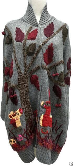 cashmere cardigan women sweater intarsia