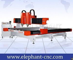 Double Separate Heads 2030 Stone Cutting Machine , Cnc Carving Machine
