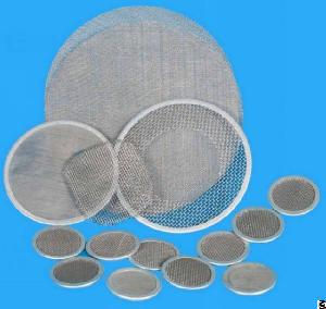 stainless steel rimmed mesh disc