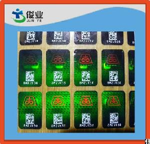 3d hologram stickers serial numbers anti fake counterfeit