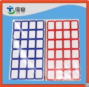 blue grid blank label