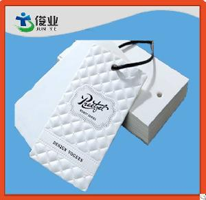 fancy waterproof leather garment hangtag apparel hangtags