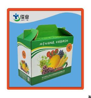 protective foldable corrugated paper cartons vegetable storage