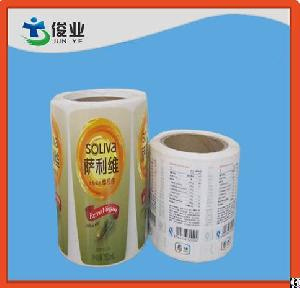 sticker printing logo colorful paper adhesive barcode