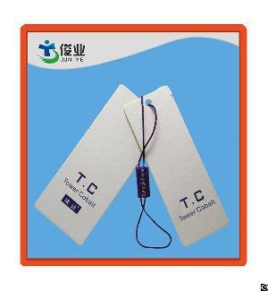 tower cobalt pendant hang tag
