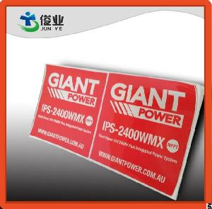uv resistant water proof outdoor printing labels