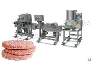 100kg h burger patty line