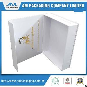 One Pieces Full Printing Matte Lamination Snapshut Rigid Paper Gift Box With Magnet Custom