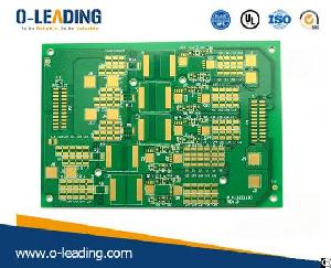 4-layer Printed Circuit Board With Selective Hard Gold Coating 50 Micro Inch 1.25 Micrometers