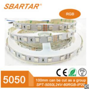 ce rohs rgb flexible cuttable 12v waterproof led strip light smd5050 60leds m