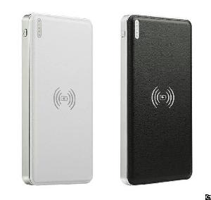 2a charging qi dual usb 10000mah wireless charger power bank led torch ce