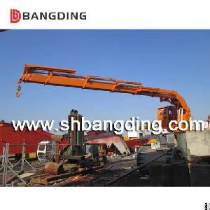 Bangding Knuckle Boom Telescopic Crane Ship Deck Crane Hydraulic For Unloading And Loading