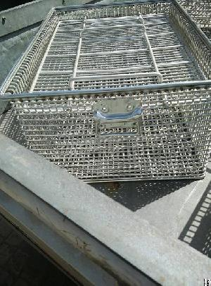 manufacturer heavy duty wire baskets ultrasonic cleaning