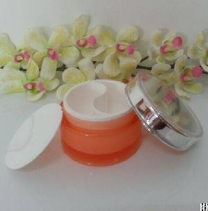 50gram 2x25gr night cream empty cosmetic jar 2 compartments dual chamber