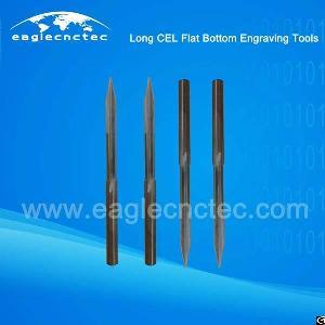 flat bottom v shaped cel engraving router bits