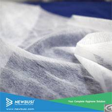 hydrophilic perforated airthrough nonwoven sanitary napkin topsheet