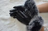 sheepskin glove fox fur