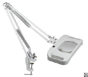 Magnifier Lamp With Optical Glass Lens Metal Clamp With Led Light Source