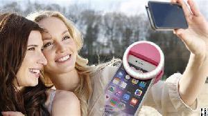 selbst mit bild selfie handy led licht