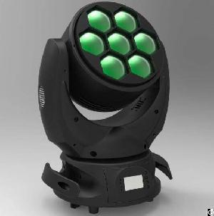 led moving head beam wash zoom light 7x40w rgbw 4in1 osram leds