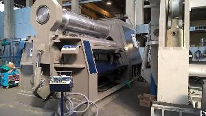 Three Rolls Double Pinch Plate Rolling Machine 3100 X 65 / 50mm