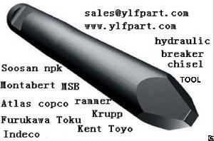 msb hydraulic breaker ms35at rock hammer chisel blunt tool bits moil point