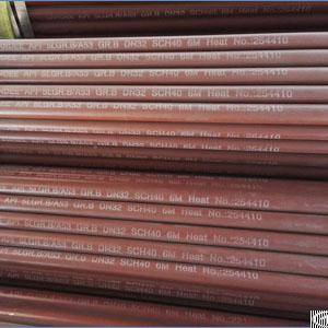 Seamless Pipe, Api 5l A53 Gr B, Dn32, Sch 40, 6 Meters, Bevel End