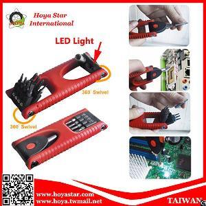 8pcs precision screwdriver led light multi tool bit angle