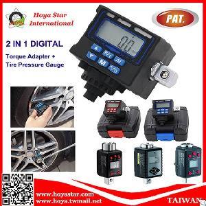 multi funciton digital torque adapter tire pressure gauge