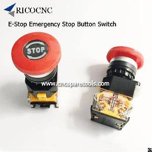 e stop emergency button switch cnc router lathe machines