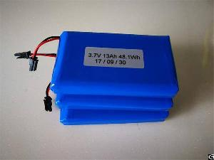 Perma Battery Packs Li-ion 18650 3.7v 13ah With Protection Pcm And Connector For Gps Tracking Device
