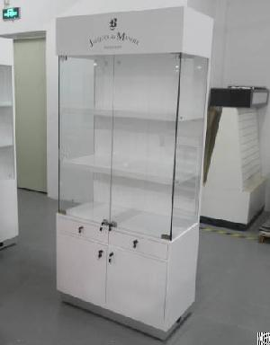 Wall Cabinet Display Case With Painting And Storage