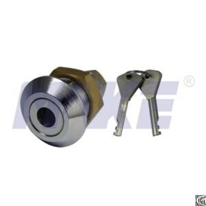 Harden Steel, Brass Top Security Cam Lock, Shiny Chrome