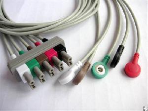 5 ecg cable snap electrode aha