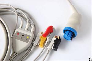 Datex 3 Leads, Aha, Clip, No Resistance Ecg Cable