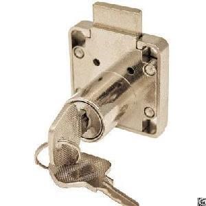 zinc desk drawer lock ring strike plate 11 16 2 keys