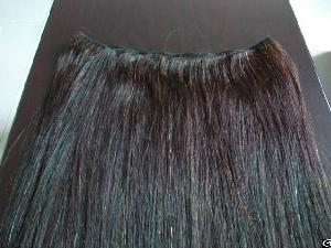 horse tail mane hair weft strip