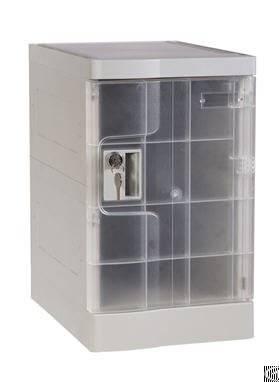 Abs Plastic Office Locker, Nine Tier, Multiple Locking Options
