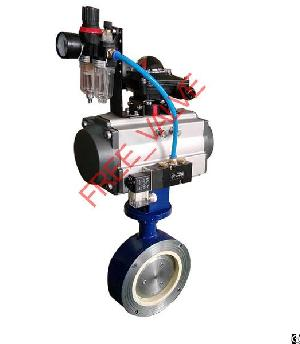 Pneumatic Wafer Type Ceramic Butterfly Valve, Manual Ceramic Butterfly Valve